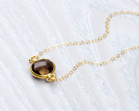 Smoky Quartz Necklace • Stone Necklace