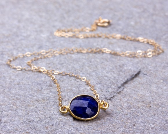 Lapis Lazuli Necklace / Bridesmaid necklace / Royal Blue necklace / September Birthstone necklace / Lapis Pendant / Stone necklace | Ophion