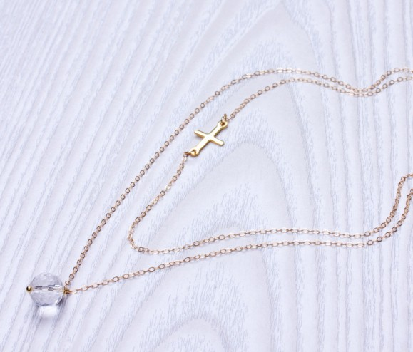 Layered Gold Necklace • Double Layer Necklace