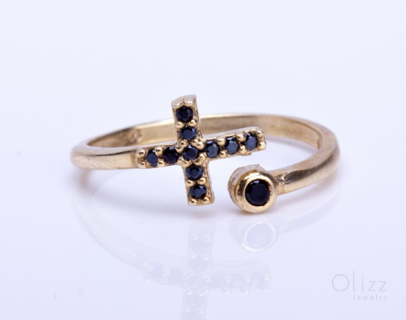 Cross Ring - Gold Ring Women