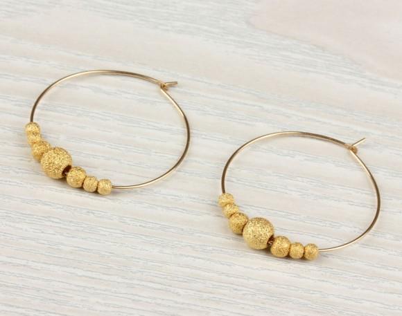 """Gold filled hoop earrings, hoop earrings, bridal earrings, 14k gold filled hoop earrings, everyday earrings, minimalist, """"Iris2"""""""