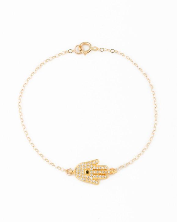 Gold Hamsa Bracelet • Hamsa Jewelry