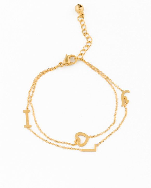 Gold Heart Bracelet • Love Bracelet