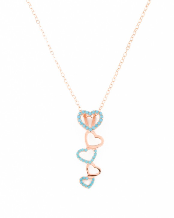 Heart Necklace • Rose Gold Pendant