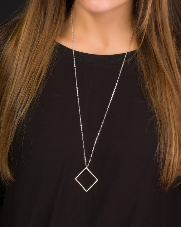 Long Geometric Necklace • Extra Long Necklace