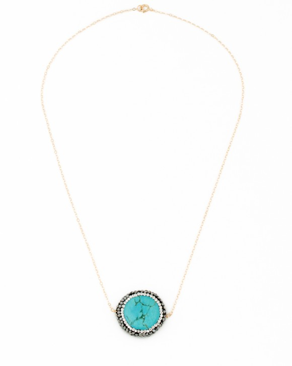 Turquoise Stone Necklace - Christmas Jewelry