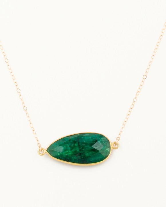 large emerald necklace gemstone necklace