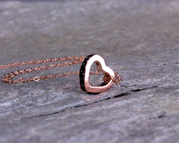 Heart Necklace / Rose Gold Necklace