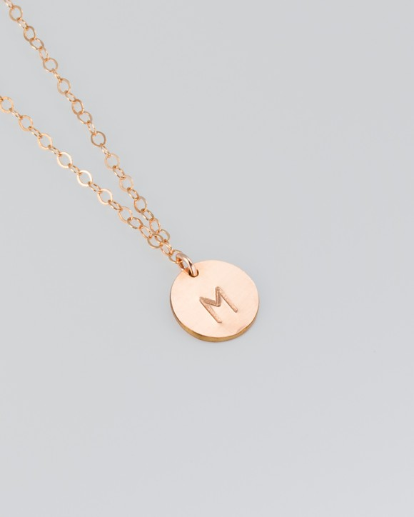 Rose Gold Personalized Necklace • Personalized Necklace for mom