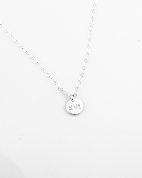 Personalized Silver Necklace • Sterling Silver Initial Necklace