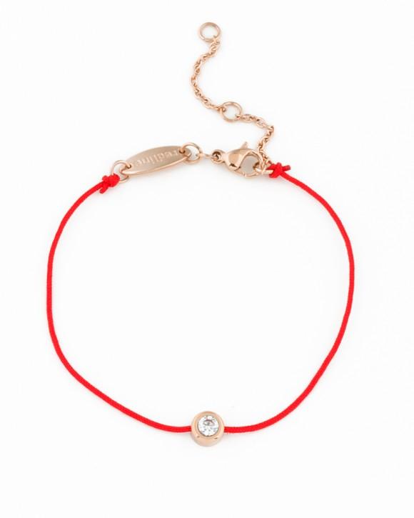 Red Bracelet • Rose Gold Bracelet