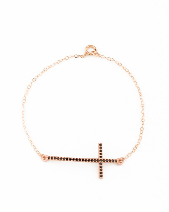 Rose Gold Cross Bracelet • Cross Jewelry