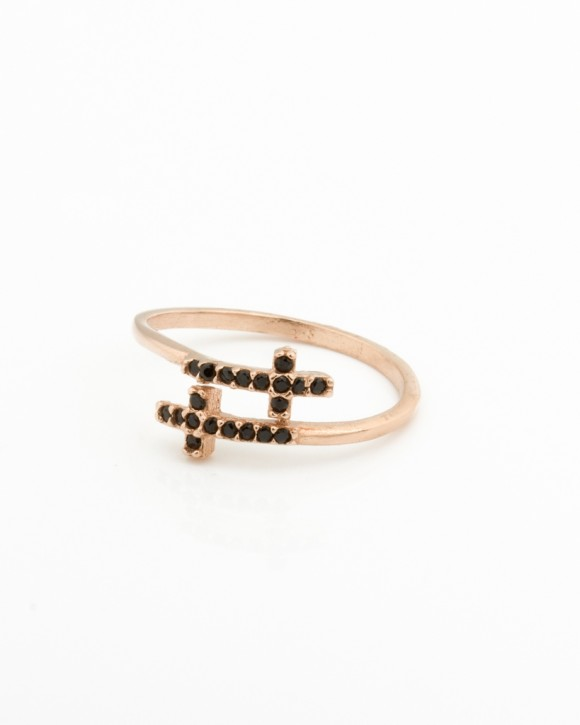 Double Cross Ring • Adjustable Ring