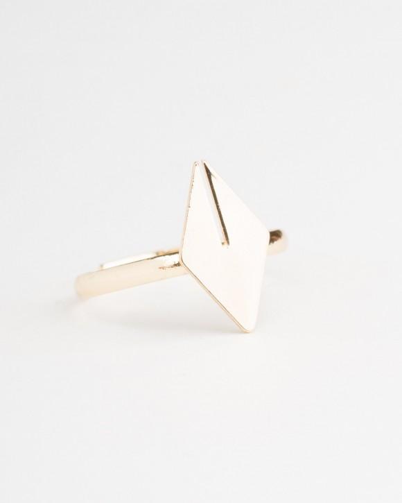Gold Rhombus Ring