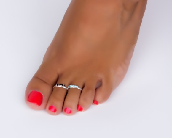 Sterling Silver Band Toe Ring Adjustable Midi Rings