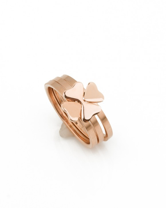 Rose Gold Ring • Clover Ring