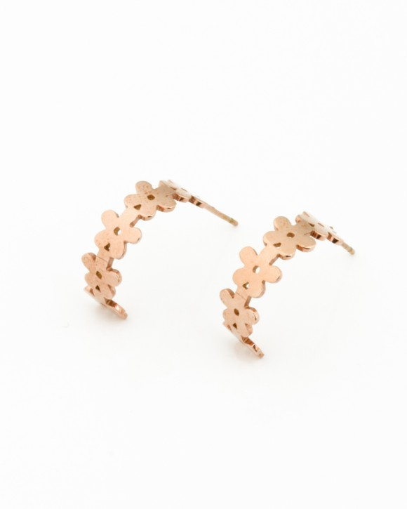 Small Hoop Earrings • Rose Gold Hoops