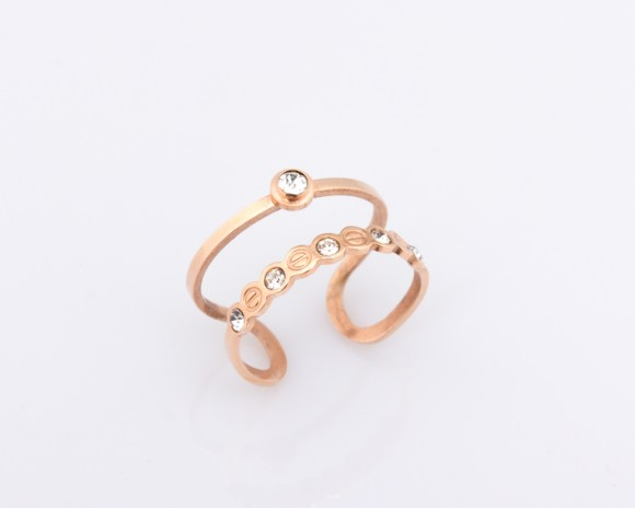 Rose Gold Ring - Double Band Ring