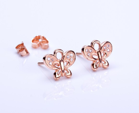"Butterfly stud earrings, gold butterfly earrings, tiny stud earrings, spring wedding, bridesmaid earrings, sterling silver earrings, ""Leto"""