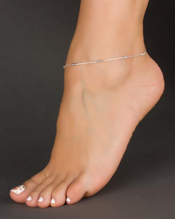 Silver Ankle Bracelet - Chain Anklet - Anklet Feet