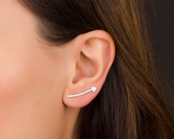 Arrow Ear Climber - Arrow Ear Cuff