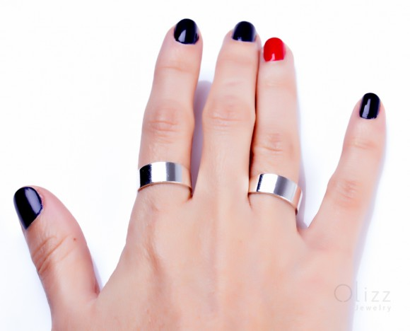 """Silver Band ring, silver cuff ring, thick silver ring, knuckle ring, bridesmaid ring, adjustable ring, band ring,simple ring, """"Paeon"""""""