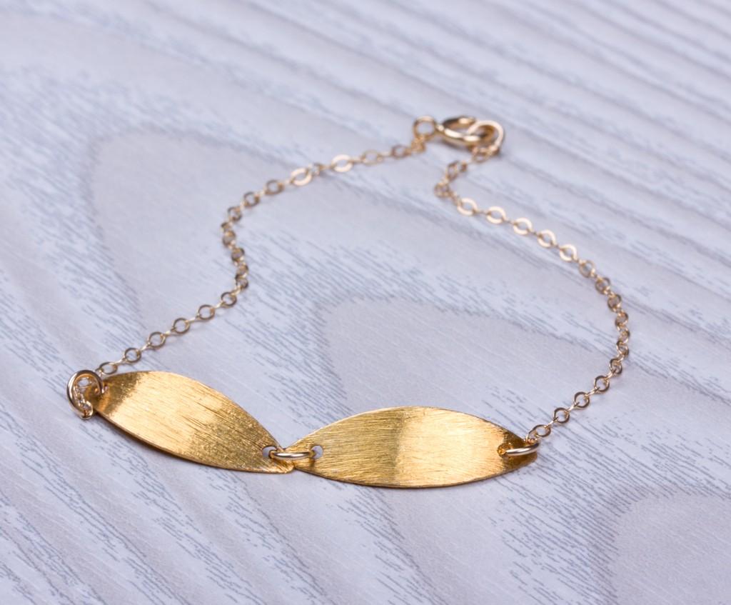 0daa54a6b Gold bracelet, gold leaf bracelet, gold filled bracelet, simple bracelet,  bridesmaid bracelet