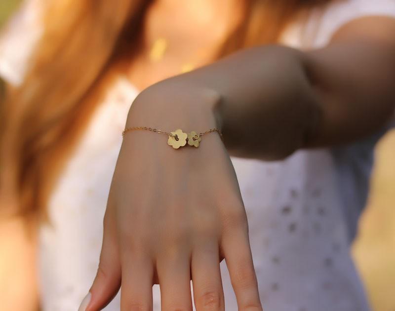 8ca9e74d6 Gold Simple Bracelet, Gold Filled Bracelet / Gold Charm Bracelet, Gold  Bridesmaid Bracelet /