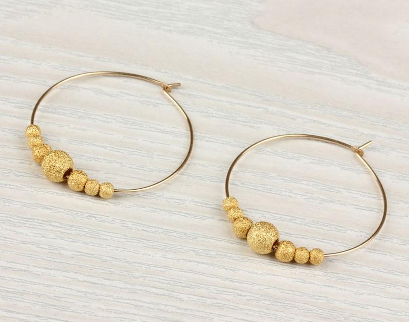 Gold Filled Hoop Earrings Bridal 14k