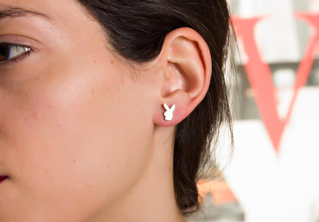 74068a3fd3c12 Tiny Bunny Earrings   Fashionable Earrings