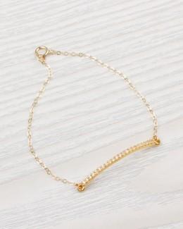 Gold Bar Bracelet • Dainty Bracelet