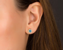 Evil Eye Stud Earrings / Tiny Post Earrings