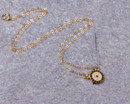 Evil eye necklace • Crystal necklace