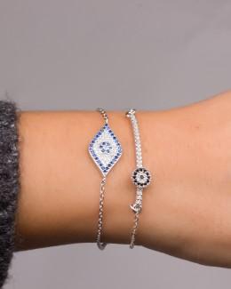 Evil Eye Bracelet - Sterling Silver Bracelet
