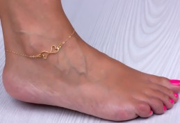 Heart Anklet / Bridesmaid Anklet | Erotes