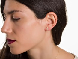 Bridal Earrings / 925 Silver Cross Earrings | Gyge