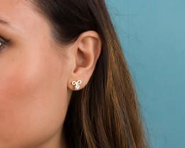 Tiny Post Earrings / Bow Studs | Python