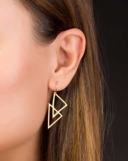 Geometric Earrings • Gold filled Earrings