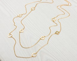 Long Gold Necklace - Gold Necklace for Women
