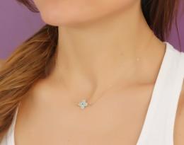 Sideways Cross Necklace / Evil Eye Necklace | Harpina