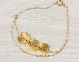 Simple Gold Bracelet / Friendship Bracelet | Calypso