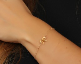 Yellow Gold Bracelet / Truth Bracelet | Tiny Bow