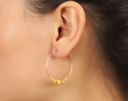Wide Gold Hoop Earrings / Big Gold Hoop Earrings | Iris2