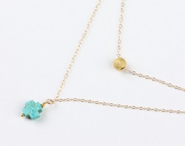 Turquoise Cross Necklace • Layered Necklace