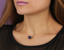 Lapis Lazuli Necklace • Blue Stone Necklace