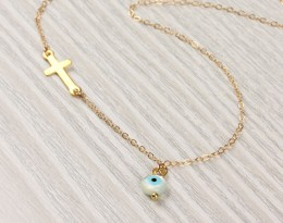 Evil Eye Necklace / Gold Filled Necklace | Stilbe