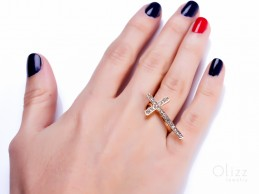 Simple Everyday Gold Ring / Gold Plated Ring / Cross Ring | Simoeis