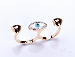 Gold Evil Eye Ring / Modern Ring for Women | Talos