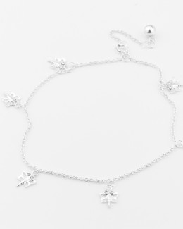 Silver Anklet • Dragonfly Jewelry