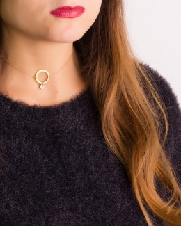 Custom Choker in Gold Filled